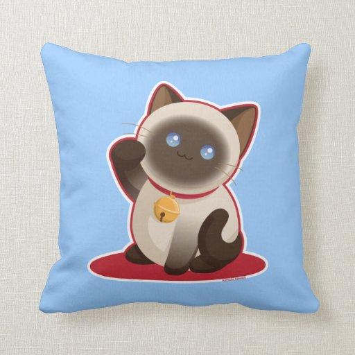 Lucky Cat Throw Pillows