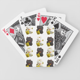 Lucky Cat Tiled Bicycle Playing Cards