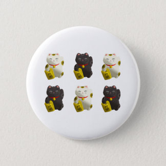 Lucky Cat Tiled Button