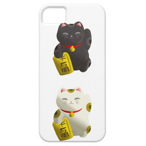 Lucky Cat Tiled iPhone 5 Case