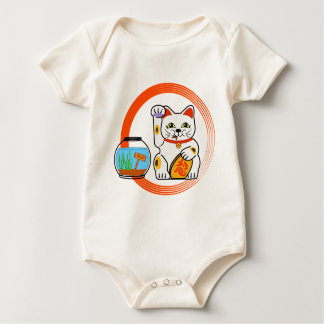 Lucky cat. Unlucky fish 2 Baby Bodysuit