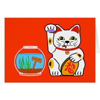Lucky Cat. Unlucky Fish Card