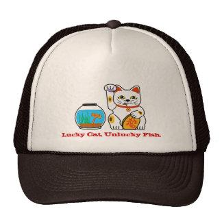 Lucky cat, unlucky fish. trucker hat