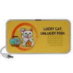 Lucky cat, unlucky fish iPod speakers