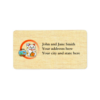 Lucky cat unlucky fish personalized address labels