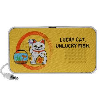 Lucky cat, unlucky fish mp3 speaker