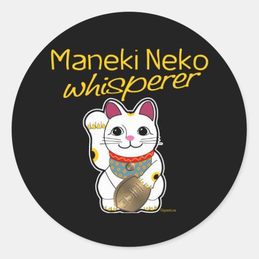 Lucky Cat Whisperer Classic Round Sticker