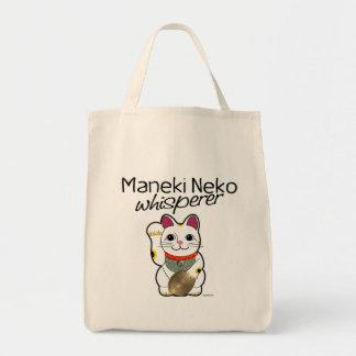 Lucky Cat Whisperer Tote Bag
