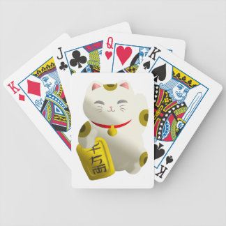 Lucky Cat White Bicycle Playing Cards