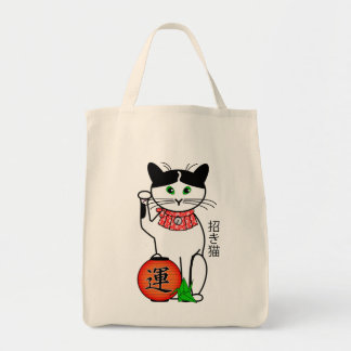Lucky Cat with Lantern Bag