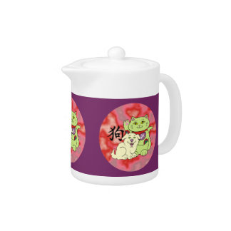 Lucky Cat Year of the Dog Teapot