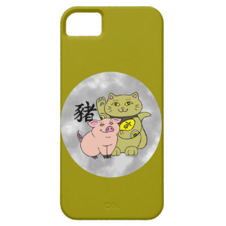 Lucky Cat Year of the Pig iPhone SE/5/5s Case
