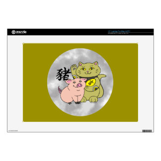 Lucky Cat Year of the Pig Laptop Skin