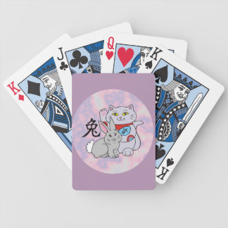 Lucky Cat Year of the Rabbit Bicycle Playing Cards