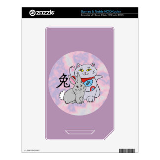 Lucky Cat Year of the Rabbit Skins For The NOOK Color