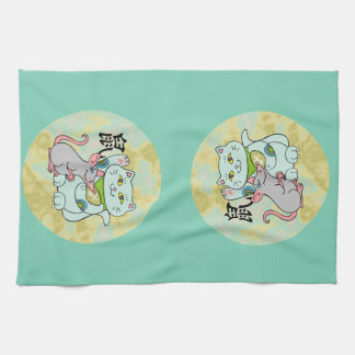 Lucky Cat Year of the Rat Kitchen Towel