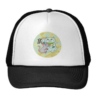 Lucky Cat Year of the Rat Trucker Hat