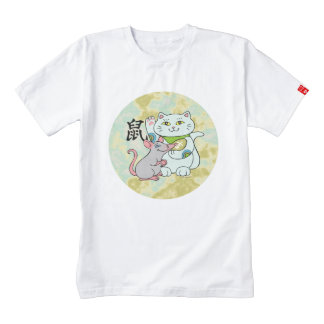 Lucky Cat Year of the Rat Zazzle HEART T-Shirt