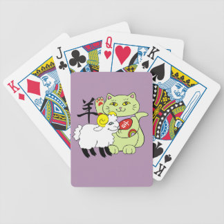 Lucky Cat Year of the Sheep Bicycle Playing Cards