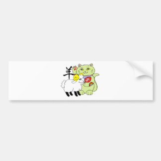 Lucky Cat Year of the Sheep Bumper Stickers