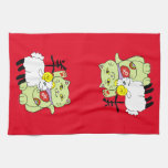 Lucky Cat Year of the Sheep Hand Towel