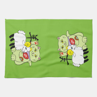 Lucky Cat Year of the Sheep Kitchen Towel