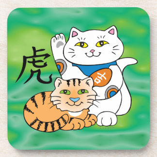 Lucky Cat Year of the Tiger Beverage Coaster
