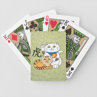 Lucky Cat Year of the Tiger Bicycle Playing Cards