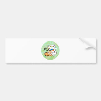 Lucky Cat Year of the Tiger Car Bumper Sticker