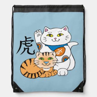 Lucky Cat Year of the Tiger Cinch Bags