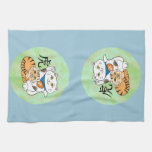 Lucky Cat Year of the Tiger Kitchen Towel