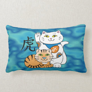 Lucky Cat Year of the Tiger Throw Pillows