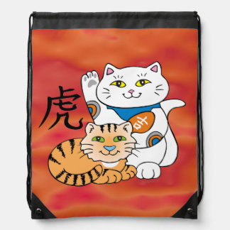 Lucky Cat Year of the Tiger Backpacks