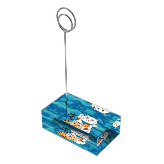 Lucky Cat Year of the Tiger Table Card Holder