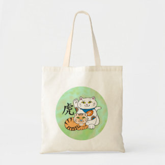 Lucky Cat Year of the Tiger Tote Bag