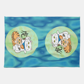 Lucky Cat Year of the Tiger Towel