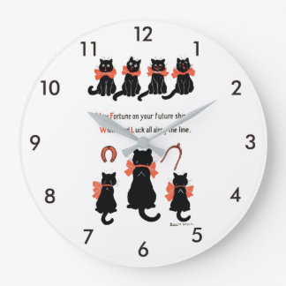 Lucky Cats, Louis Wain Large Clock