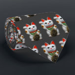 """Lucky Cats Tie<br><div class=""""desc"""">To bring you good luck and good fortune! If you want the back side printed,  as well,  add about $6.</div>"""