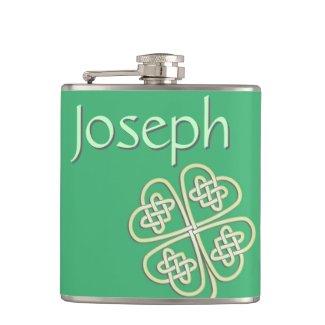 Lucky Celtic Clover Liquor Flask
