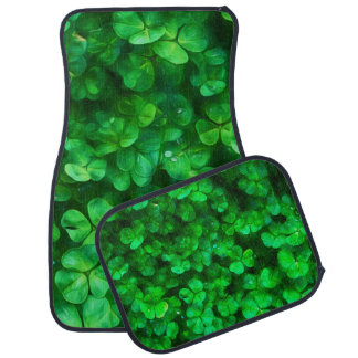 Lucky Celtic Irish Green Shamrocks Car Mat