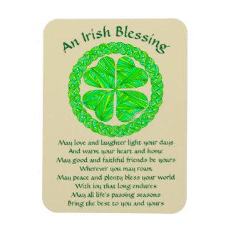 Lucky Celtic Shamrock 4 Leaf Clover Irish Blessing Flexible Magnets