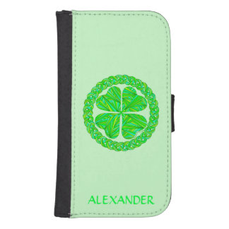 Lucky Celtic Shamrock Custom Green Ireland Irish Phone Wallet Cases