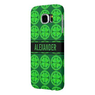 Lucky Celtic Shamrock Four Leaf Clover Green Irish Samsung Galaxy S6 Cases