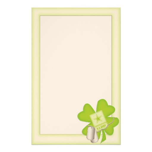 lucky charm (army) stationery