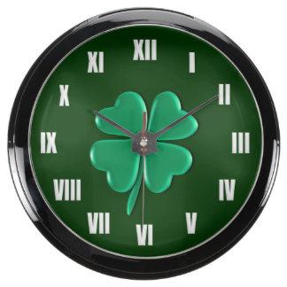Lucky Charm - Four Leaf Clover Aquavista Clocks