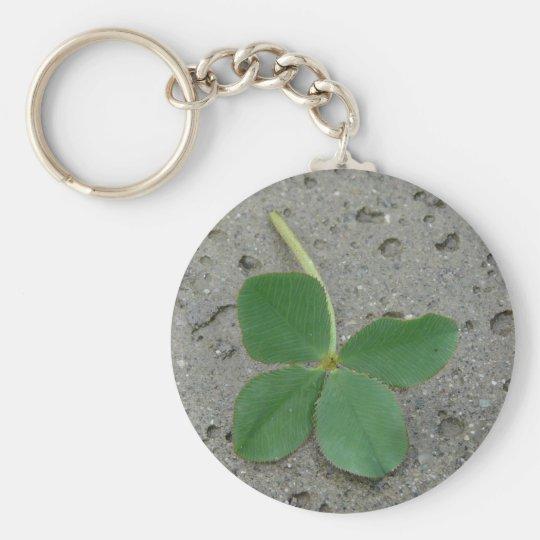 Lucky Charm Four Leaf Clover Photo Keychain