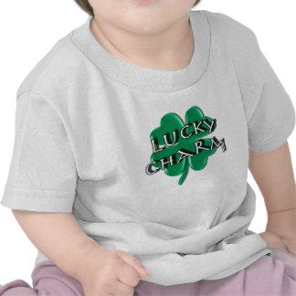 Lucky Charm - Four Leaf Clover Tee Shirts