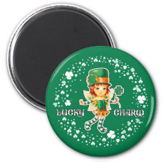 Lucky Charm. Fun St.Patrick's Day Magnets