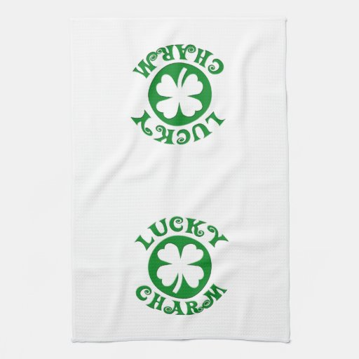 Lucky Charm Green/White Circle Towels