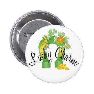 Lucky Charm Horseshoe Button